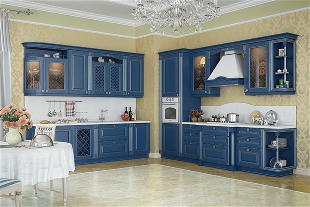 Кухня эмаль в классическом стиле