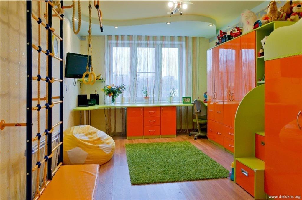 Дизайн детской комнаты 9 кв. м..