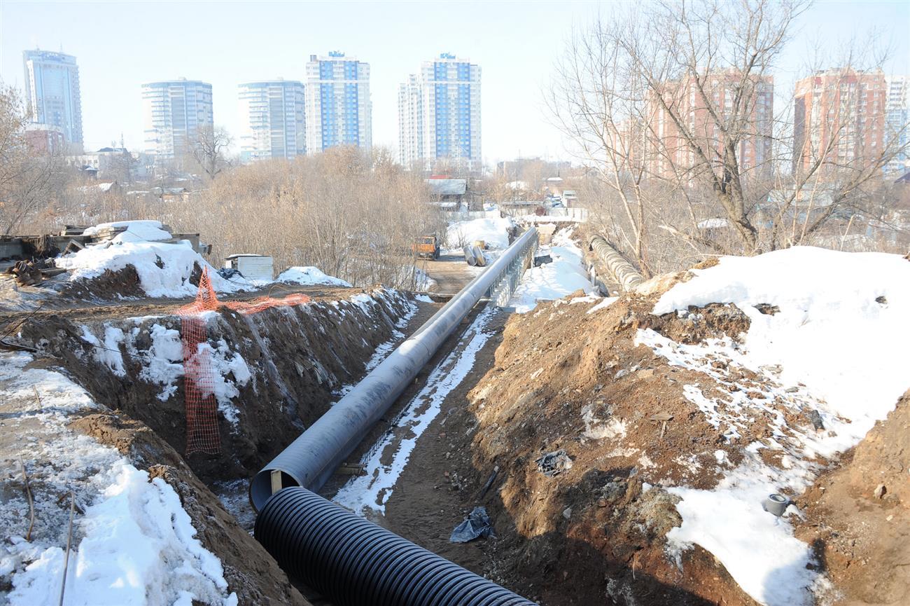 ВСамаре дублирующий участок коллектора Волжского склона готов на75%
