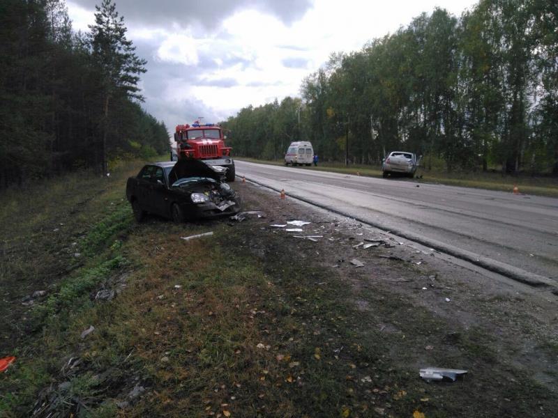 ВСтавропольском районе столкнулись «Гранта» и«Приора»: пострадали трое