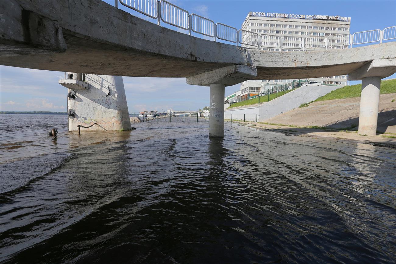 Уровень воды вВолге уСамары поднялся