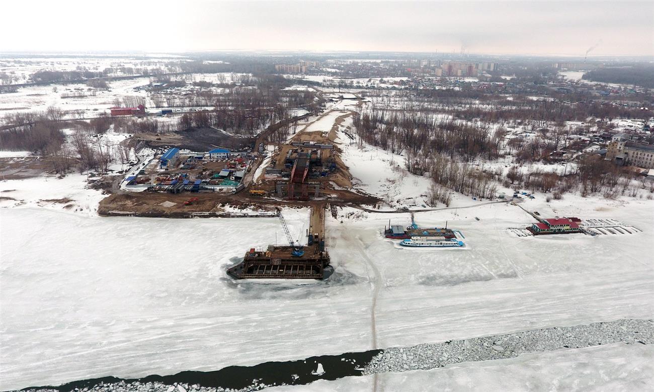 Выполнено 30% работ— Строительство Фрунзенского моста
