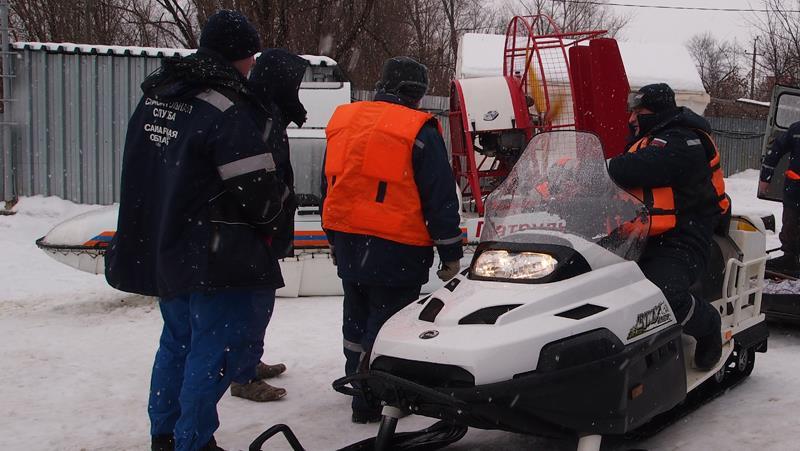 ВСамарской области рыбак заблудился наВолге впроцессе сильного снегопада