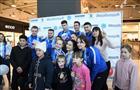 Акция в поддержку команды РФ на XXIII зимних Олимпийских играх в Пхенчхане