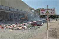 Демонтаж ледового Дворца спорта на ул. Молодогвардейской