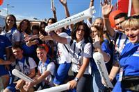 На фан-зоне на площади им. Куйбышева подвели итоги волонтерской программы ЧМ-2018 в Самаре