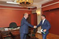 Николай Меркушкин и Алексей Немов обсудили возможность строительства в Тольятти гимнастического комплекса