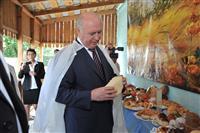 Николай Меркушкин посетил предприятие ИП Ольхова в поселке Ильичевский