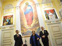 В Самаре в зале Центробанка представлены восстановленные икона Иисуса и портреты императорской четы