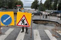 На Волжском проспекте прорвало водовод