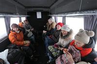 Первая организованная тургруппа посетила Ширяево на судне на воздушной подушке