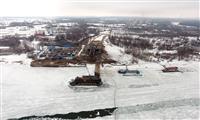 Общая готовность Фрунзенского моста в Самаре составляет 30%