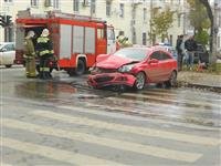 В Самаре при столкновении двух иномарок пострадала пассажирка