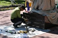 Часовой границ заступил на пост в парке Победы