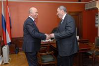 Николай Меркушкин провел рабочую встречу с  Владимиром Шамановым и  Леонидом Симановским