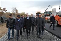 Глава региона ознакомился с ходом дорожных работ на ул. Арена 2018