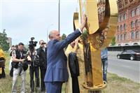 Николай Меркушкин принял участие в церемонии воздвижения креста на храм Поволжского православного института в Тольятти