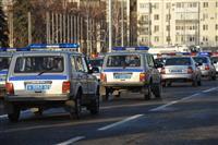 Гарнизонный строевой смотр сотрудников областного ГУ МВД, Росгвардии, и общественников