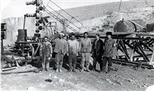 Сотрудники отдела исследования пластовых нефтей в Афганистане. 1974
