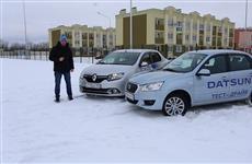 """Стычка """"молочных братьев"""" Renault Logan и Datsun On-DO"""