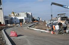 На развязке Кирова и Московского шоссе завершена укладка второго слоя асфальта