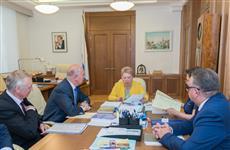 Николай Меркушкин обсудил с Ольгой Васильевой вопрос строительства новых школ в регионе