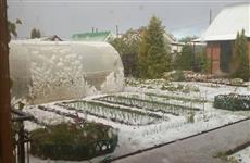В первый день лета в Тольятти выпал снег