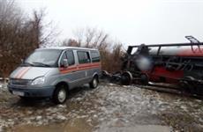 В Красноярском районе с ж/д путей сошли пять цистерн с дизельным топливом