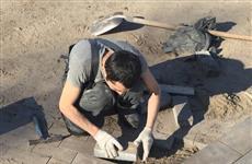 Разрушенная плитка в Струковском парке восстановлена