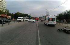 В Сызрани пострадал мотоциклист, с которым столкнулась автоледи на легковушке