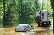 С отрезанного при разливе Кривуши с пляжа в Новокуйбышевске эвакуировано 42 человека и 27 машин