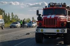 Под Самарой погибли водители двух столкнувшихся и загоревшихся грузовиков