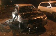 В Самаре во дворе жилого дома обгорел автомобиль Subaru Forester
