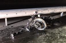 В Самаре водитель авто въехал в колонну мотоциклистов