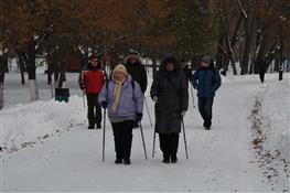 В парке им. Гагарина открылись трассы для скандинавской ходьбы