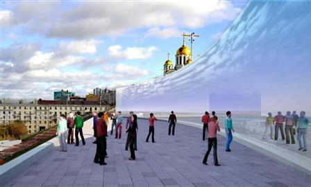 Что предлагают архитекторы по склону площади Славы