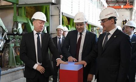 """В ОЭЗ """"Тольятти"""" Максим Орешкин и Дмитрий Азаров дали старт новому производству"""