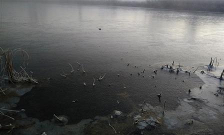 На озерах в Самарской области встает первый лед