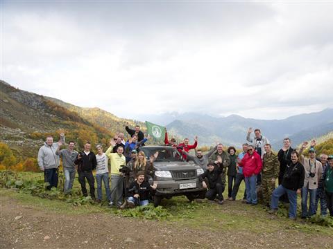 Тестируем обновленный УАЗ Патриот в горной Абхазии