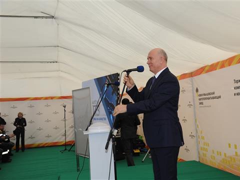 Николай Меркушкин  принял участие в торжественной церемонии открытия нового производства в Новокуйбышевске