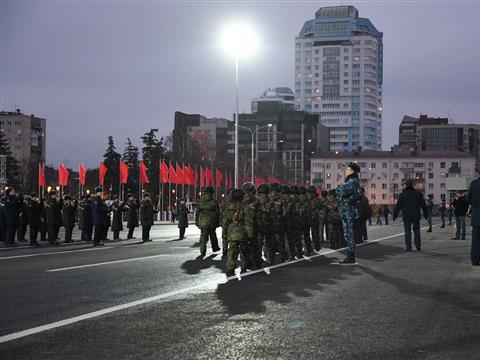 Генеральная репетиция Парада Памяти