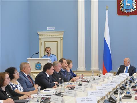 Заседание координационного совета по обеспечению правопорядка на территории региона