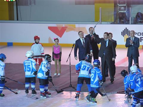 Церемония открытия ледового дворца спорта «Роснефть Арена» в Новокуйбышевске