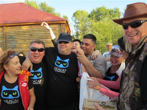На острове Поджабный состоялись 11-е соревнования подводных охотников на Кубок Самара. Волга
