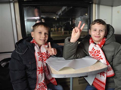 Самарские школьники отправились на новогоднее представление в Кремле