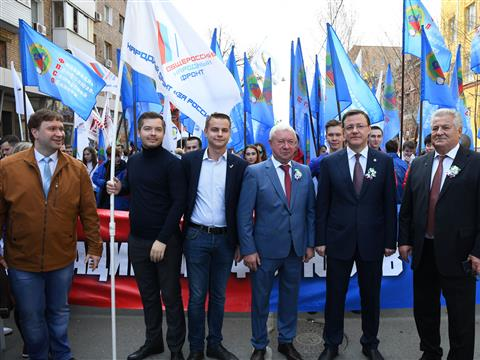 В Самарской области прошли праздничные шествия ко Дню весны и труда