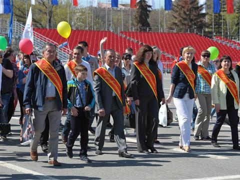 Первомайское  массовое шествие трудящихся