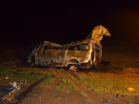 В ДТП в Большечерниговском районе 13 иностранцев сгорели заживо