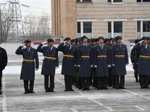 Смотр бойцов Управления Росгвардии по Самарской области