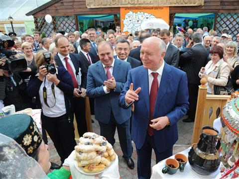 В поселке Усть-Кинельский города Кинель состоялась XVI Поволжская агропромышленная выставка